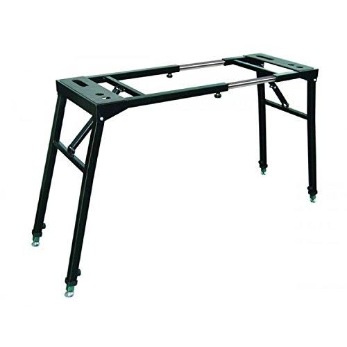 Proel el270 supporto professionale universale per tastiere pianoforti mixer, nero opaco