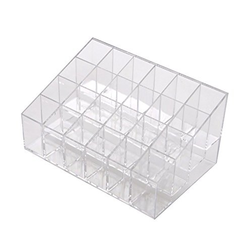 Lifestyle - You 24 Compartment Luxurius Clear Acrylic Cosmetic Organiser Lipstick Holder Case