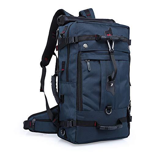 """DORAFAIR Outdoor Rucksack 50L Herren Rucksack Reiserucksack Wanderrucksack für 17.3\"""" Notebook Schüler Backpacks Schultaschen für Wandern Reisen Camping, Blau"""