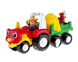 Mattel - M1280 - Jouet 1er Age - Little People - Tracteur Surprise