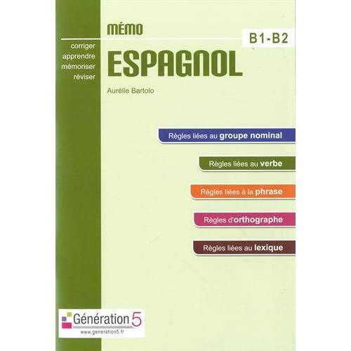 Memo espagnol B1-B2 (lycée)