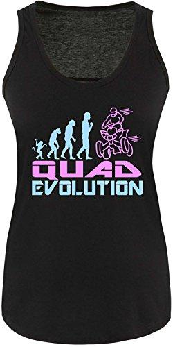 EZYshirt® Quad Evolution Damen Tanktop Schwarz/Hellbl/Rosa