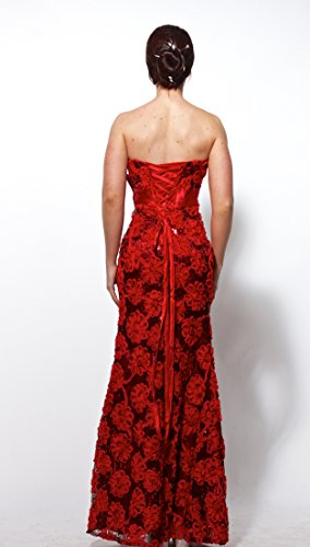 atopdress - Robe - Fishtail - Sans Manche - Femme Violet Violet 42 Rouge - Rouge