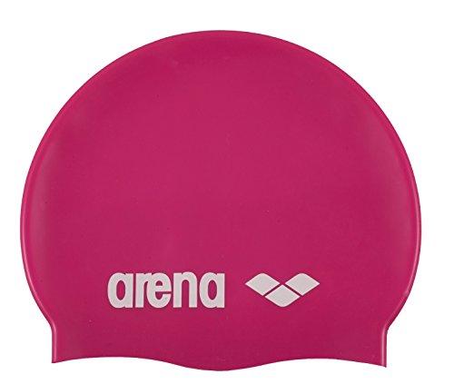 Arena Classic Silicone Cuffia Silicone Adulto, Rosa (91), Taglia Unica
