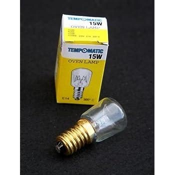 300ºC Pygmy Oven Lamp 15W SES Cap 240v Clear
