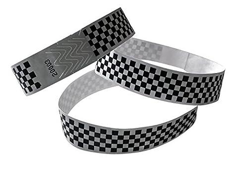 Tyvek Control Bracelets Width 19mm Length 255mm 100Pieces Chess Board
