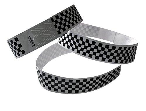 100unidades pulseras de control (19mm ancho x 255mm largo) Color Negro