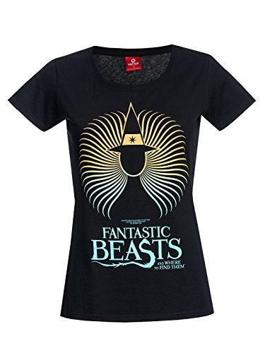 Fantastic Beasts and Where to Find Them Spiral Wizard Maglia donna nero XS