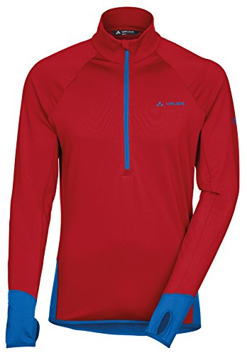 Vaude Livigno Sweat-shirt 1/2 zip Homme Indian Indian Red