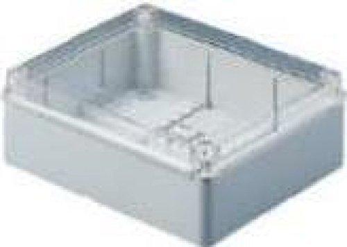 Gewiss GW44430glatten Wand Box für JUNCTION und elektrischen und elektronischen Geräten, Uni geschraubt, transparentem Deckel 380mm L x 300mm H x 120mm D, 48mm max Loch Durchmesser, grau (Elektronische Kabelbinder)