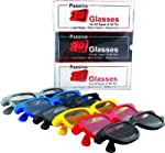 Passive 3D Glasses Suitable for Passive 3DTVs only (Like LG/Philips/Panasonic / VU /AOC/ and other passive 3D Tvs. Suitable for cinema theaters showing 3D movies with RealD system. Not suitable for Home projector,LapTop,Mobile etc Not suitable for ac...