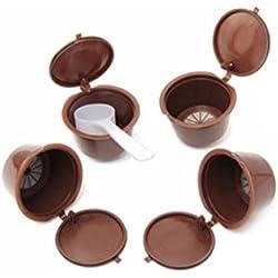 BESTONZON 4pcs nachfüllbare Kaffeepads wiederverwendbare Kapsel Kaffee Filter für Nescafe Dolce Gusto Maschinen - Kaffee