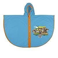 PERLETTI 99696 Raincoat Poncho Paw Patrol, Multi Colour, One Size