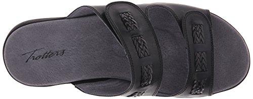 Trotters Kap Large Cuir Sandale Black