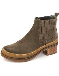 El Naturalista N5121 Kentia Komfortabler Damen Chelsea Boot, Stiefelette, Schlupfstiefel, perfekte Passform durch Gummizug, Blockabsatz