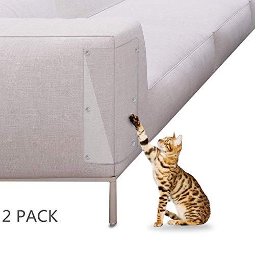 Petyoung Cat Scratch Guard, Härtesten Gepolsterten Möbelschutz, 2Pcs Clear Vinyl Protector Guards-Love Ihre Möbel und Ihre Katze. Scratch Guard