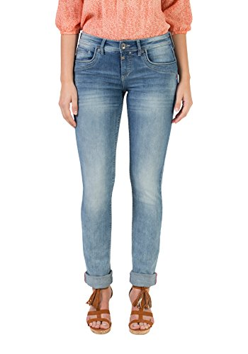 Timezone Damen Straight Jeans Slim Tahila, Blau (Light Sky Wash 3152), 32W / 34L