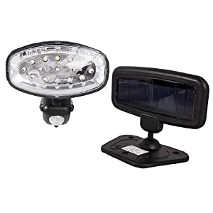 15 LED Solar Security Light / Solar Powered PIR Utility Light by SPV Lights: The Solar Lights & Lighting Specialists