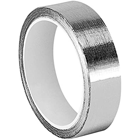 tapecase 0.875-5-425plateado brillante cinta adhesiva de aluminio/Acrílico, tape-converted de aluminio de 3M 425, 65-300grados F Rendimiento Temperatura, 0.0046
