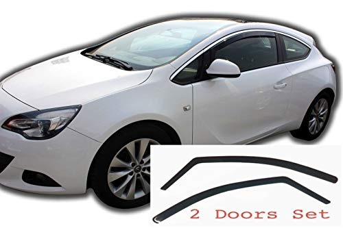 AC WOW 2x Wind Deflectors Compatible with Ford Galaxy MK3 III 2006/−2015 Smoke Tinted Acrylic Glass Door Side Windows Interior In-Channel Visors Rain Snow Sun Guards