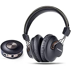 Avantree HT3189 Casque TV sans Fil avec émetteur Bluetooth, 3.5mm & RCA (Pas Optique) Audio USB sur PC Supporté, Pré-appairé, Plug and Play, Faible Latence, Longue portée, Autonomie 40 Heures