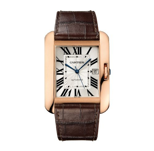 Cartier Men's Tank Anglaise Alligator Leather Band Automatic Watch W5310004