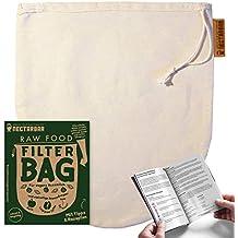 BOLSA DE LECHE VEGETAL - NECTARBAR (Eco) Raw Food Filter Bag - Algodón Natural, Embalaje: alemán - Para leche de nueces, leche de almendras, leche de ...