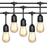 Lichterkette 10m mit 10 Led Glühbirnen, Outdoor Lichterkette Außen Lichterkette IP65 Wasserdicht für Garten, Party, Wehinachten