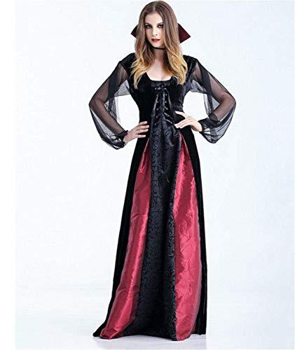 Fashion-Cos1 Halloween Kostüm Weibliche Hexe Kostüm Party Kleid Vampir Spinne Hexe Rock Cos Anime (Size : S)
