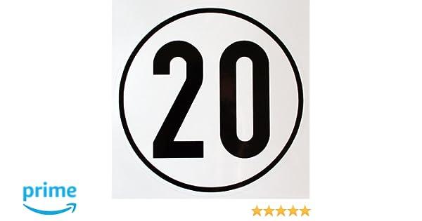 Geschwindigkeitsschild 25 km//h 25 kmh Schild aus Alu