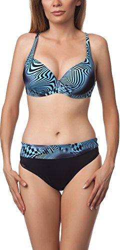 Antie Completo Bikini da Donna 81L2D4N31 S Nero/Blu