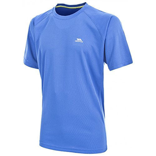 Trespass Herren Debase T-Shirt, Electric Blue, S Tinte
