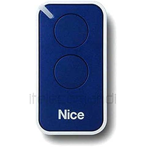 Nice Era-Inti - Mando original con 2 botones para puerta automática (sustituye: Nice Very VR, ONE, ON1, ON2, FLOR FLO2R-S, FLO1R-S, frecuencia 433,92 MHz)