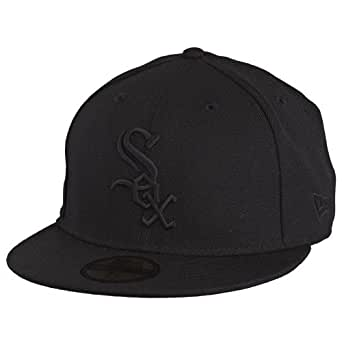 NEW ERA Baseball Cap 59Fifty CHICAGO WHITE SOX AC PERF ON FIELD AUTHENTIC CAP BLACK ON BLACK Gr. 8