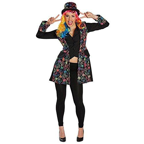 Rubie's Damen Kostüm Freaky Neon Dandy Jacke Karneval Fasching Party Gr.42