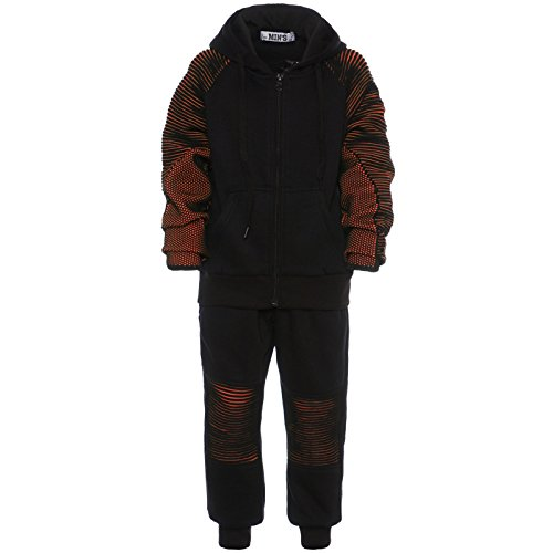 GP Creation Junge Kinder Freizeit Sportanzug Jogginganzug Hoodie Sport Hose Baggy 21755 Orange Größe ()