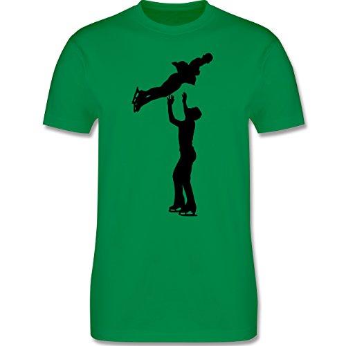 Wintersport - Eiskunstlauf Paarlaufen Eiskunstläufer - Herren Premium T-Shirt Grün