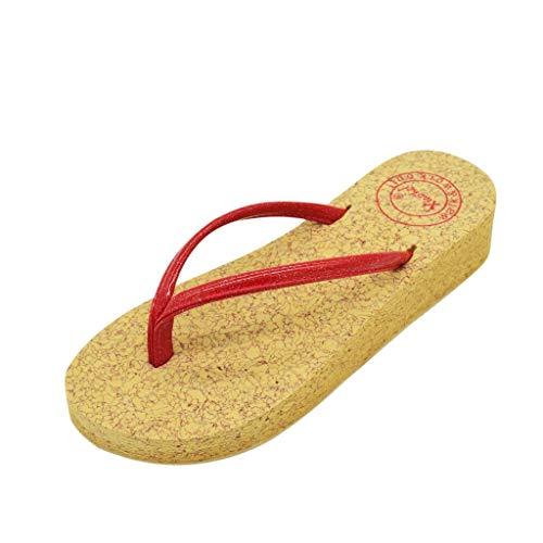 (ODRD Sandalen Shoes Lässige Lässige Mode Damen Flip Flops Einfache Clip Toe Damen Wedges Strand Hausschuhe Schuhe Strandschuhe Freizeitschuhe Turnschuhe Hausschuhe)