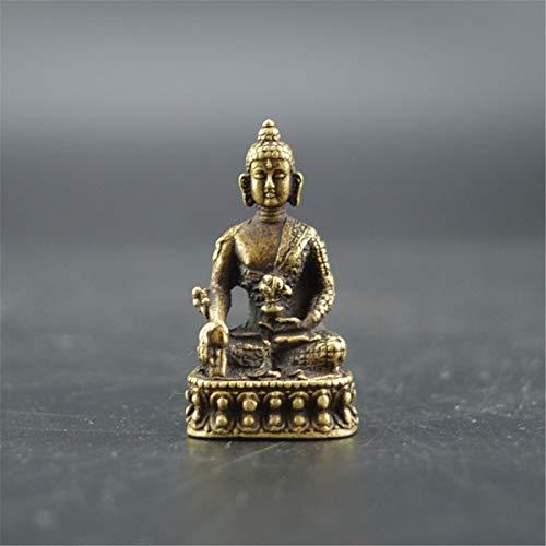 Buddha-Statue, Antik-Stil, Kupfer, Vintage-Stil, Buddhismus, Gott, Sakyamuni, Buddha-Perlen