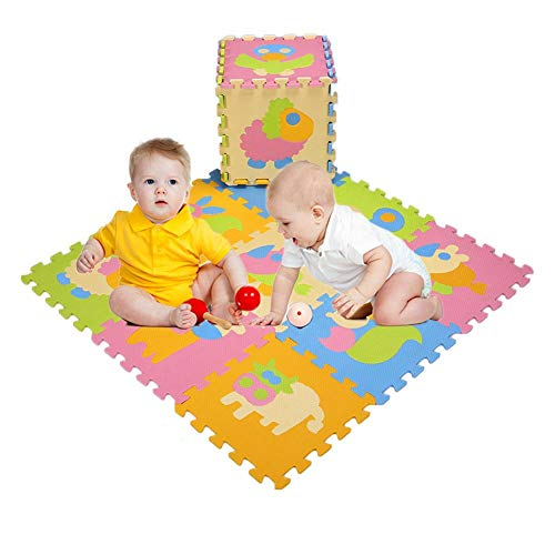 Diuspeed Crawling Mat Toy for children, Cartoon Animal pattern for kids Crawling Mats Mat Tracking Eco-friendly Foam
