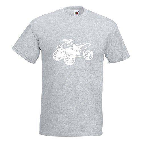 KIWISTAR - Quad Motorbike T-Shirt in 15 verschiedenen Farben - Herren Funshirt bedruckt Design Sprüche Spruch Motive Oberteil Baumwolle Print Größe S M L XL XXL Graumeliert