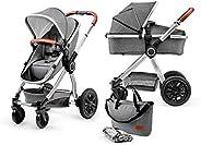 Kinderkraft Wielofunkcyjny Wózek Dziecięcy VEO 2w1, Spacerówka, System podróżny, Stylowa torba i Akcesoria w z