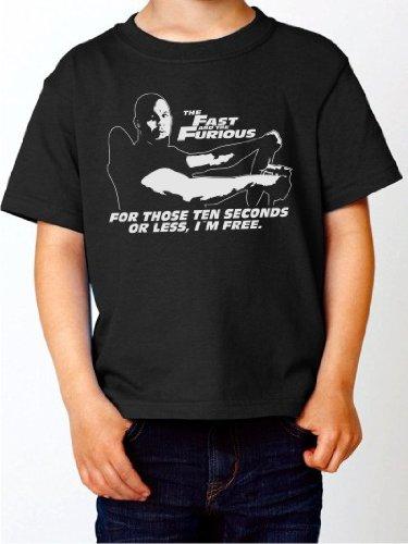 BIGTIME.de Kinder T-Shirt Vin Diesel Fast & Furious Kultfilm Shirt schwarz E40-kids Gr. 104