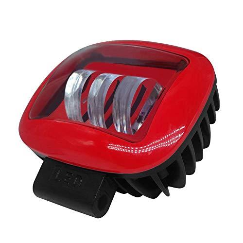 iStary Faro da Lavoro,Faretti Super Luminosi Quadrati Rossi 30W 12000LM LED per Auto 6000K IP68 Faro Impermeabile supplementare Bianco Freddo per Fuoristrada, Trattore, Camion, Moto