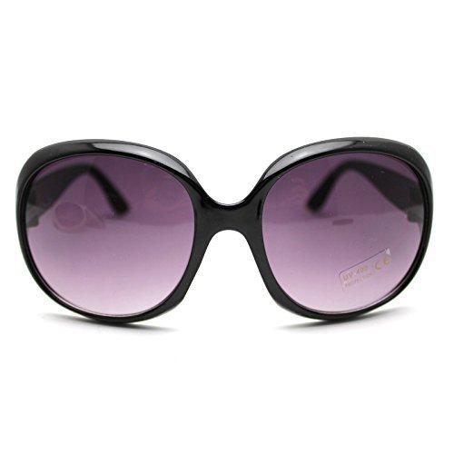 Flyyfree Hot Fashion Lady's Vintage Big Frame Sunglasses Goggles Shades Eyeglass(Black)