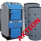 Chaudière à bois ATMOS DC 25 GSE avec un tampon 2x1000L - gazéification