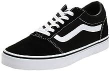 Vans Ward, Sneakers Basses Homme Noir ((Suede/Canvas) Black/White C4r) 42.5 EU