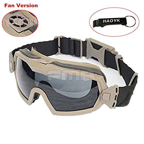 Haoyk Masque lunettes avec aérations pour sports de glisse et moto, DE