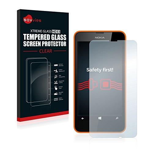 Savvies Panzerglas kompatibel mit Nokia Lumia 630 Dual SIM - Echtglas Schutzfolie 9H