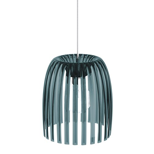 koziol suspension Josephine M, thermoplastique, anthracite transparent, 31,3 x 31,3 x 35 cm